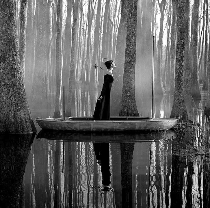 Rodney Smith, Danielle in Boat, Beaufort, South Carolina, 1996