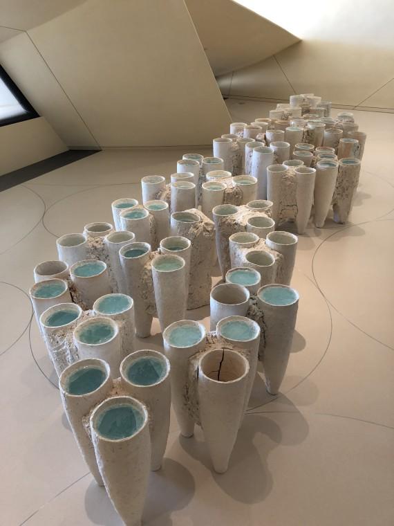 Werk von Machiko Ogawa im National Museum von Qatar