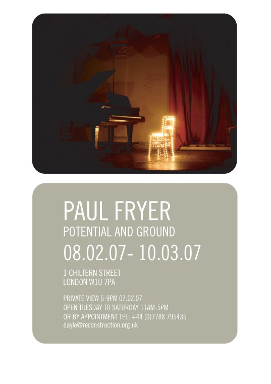 Paul Fryer, Potential and Ground