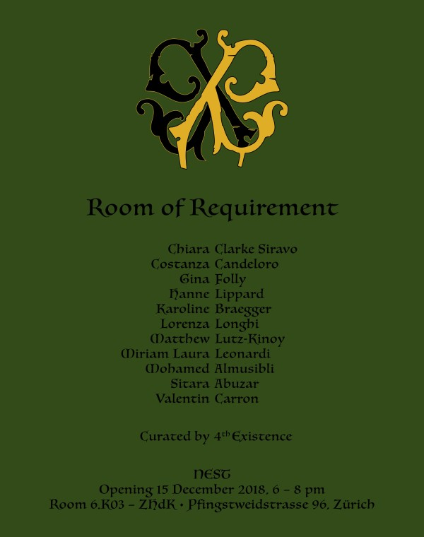 Miriam Laura Leonardi   Group Show - Room of Requirement   Curated by 4th Existence