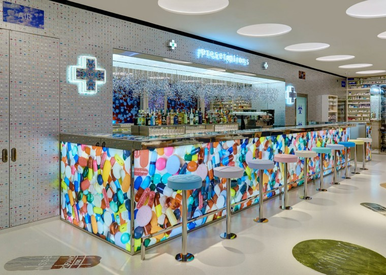 Damien Hirst opens Pharmacy2 Restaurant at Newport Street.