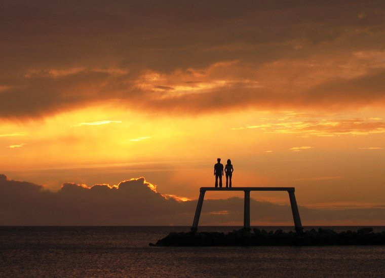 5th Anniversary of offshore sculpture 'Couple'