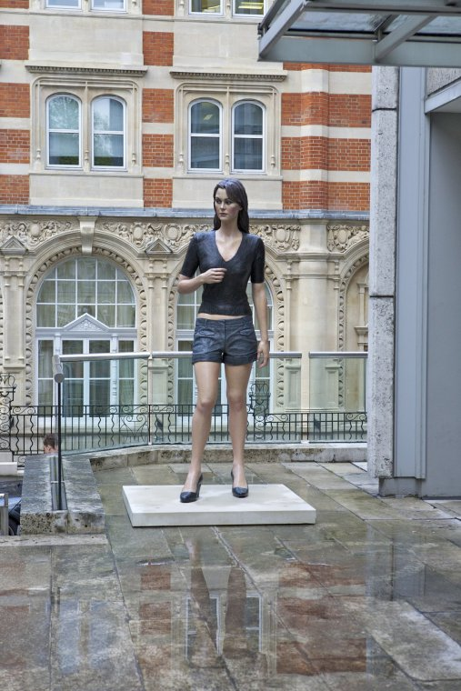 'Woman (Being Looked At)' on display in St James's, Piccadilly, London during 2012