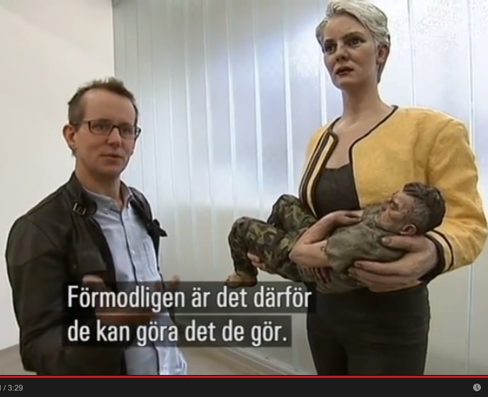 SVT News - Sweden, National TV news: Sean Henry talking at Galleri Andersson Sandstrom, Stockholm, 2014