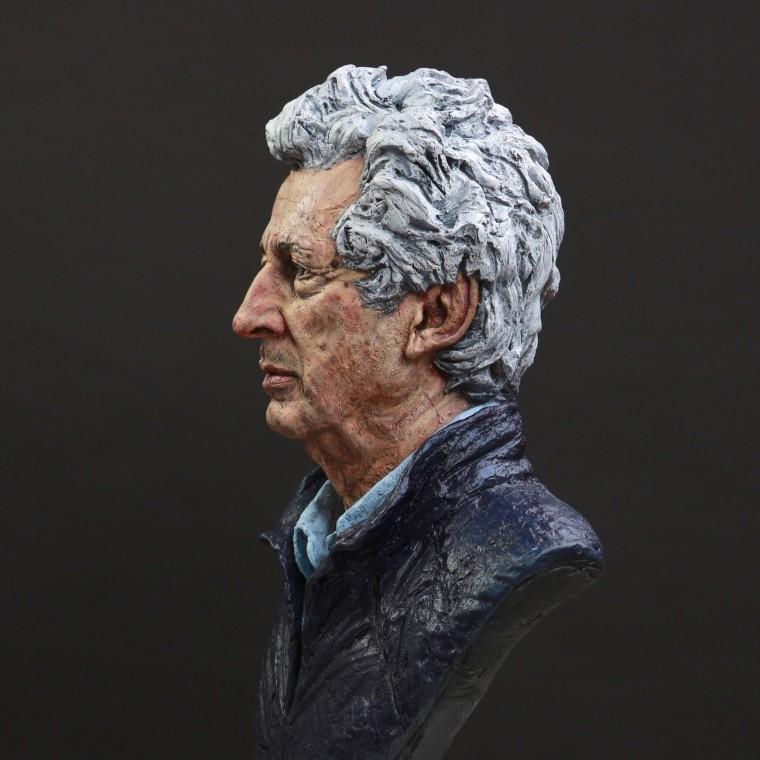 Portrait of Sir Martyn Arbib Bronze Sculpture, oil paint 2021 29 x 18 x 12in