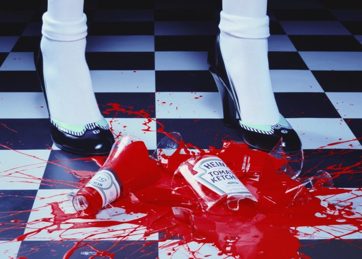 <p>Miles Aldridge</p><p>A Drop of Red #2, 2001</p><p>Lambda print</p><p>30 x 40 in.</p>