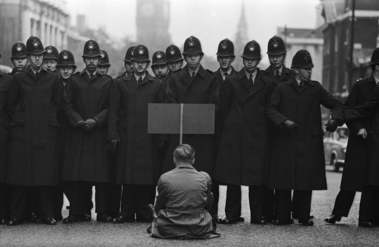 <em>Protester, Cuban Missile Crisis, Whitehall, London </em>, 1963