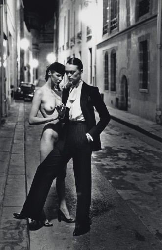 "<span class=""title"">Rue Abriot, Yves St. Laurent and Nude, Paris<span class=""title_comma"">, </span></span><span class=""year"">1975</span>"