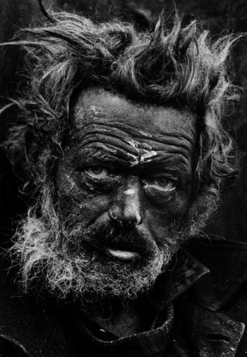 <em>Tormented, Homeless Irishman, Spitalfields, London</em>, 1969