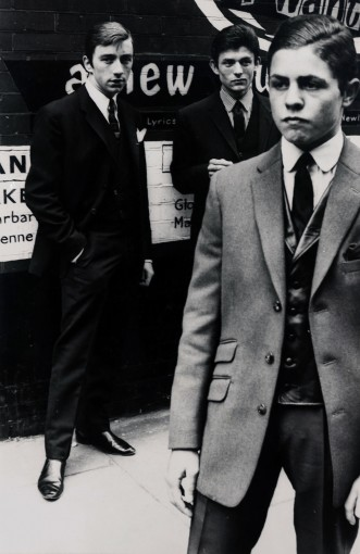 "<span class=""title"">Young Mods, London, 1962. Left to Right: Miki Simmonds, Peter Sugar, Mark Feld (Later Better Known as Marc Bolan of T. Rex) </span>"