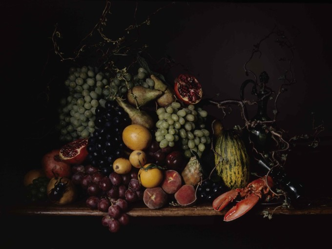 <em>Composition de fruits avec homard</em>, 2008