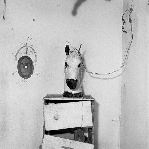 """<span class=""""title"""">Horse Head on Chest of Drawers<span class=""""title_comma"""">, </span></span><span class=""""year"""">1998</span>"""