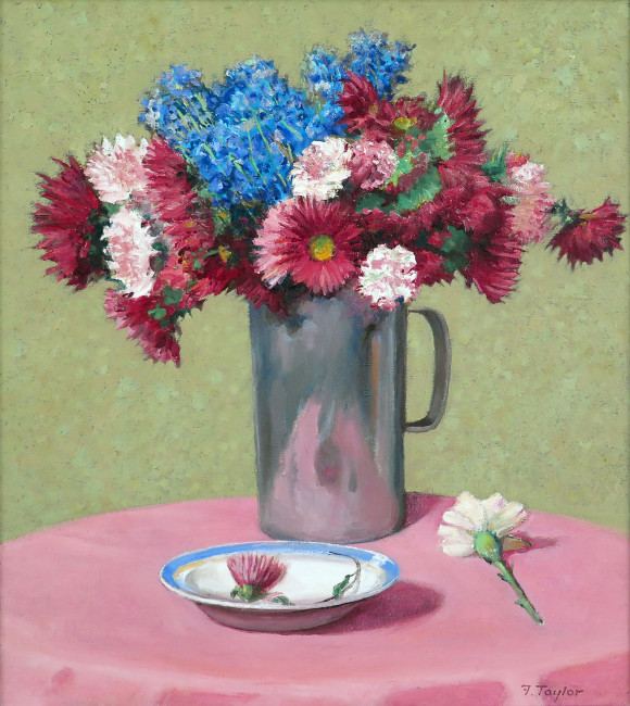 <span class=%22title%22>Mixed Flowers in Aluminum Jug<span class=%22title_comma%22>, </span></span><span class=%22year%22>1983</span>