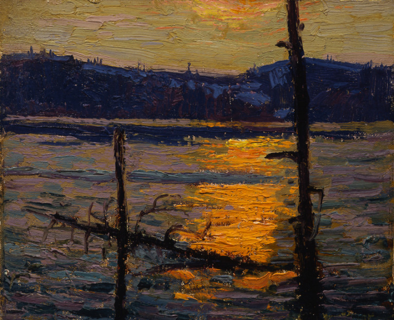 <span class=%22title%22>Sunset, Canoe Lake - Coucher du soleil, Canoe Lake<span class=%22title_comma%22>, </span></span><span class=%22year%22>1916 (Spring)</span>