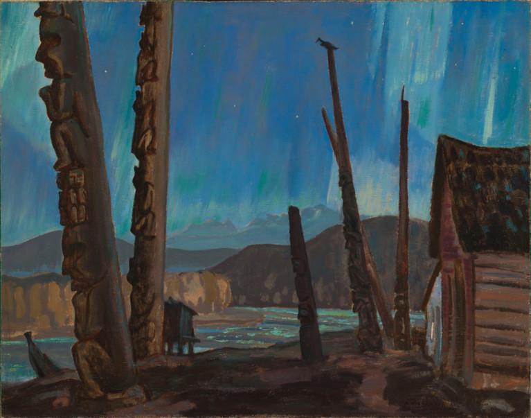 <span class=%22title%22>Night on the Skeena River / Totem Poles, Hazelton, B.C. - Nuit sur le fleuve Skeena / Mats totémiques, Hazelton, C.-B.<span class=%22title_comma%22>, </span></span><span class=%22year%22>1927</span>