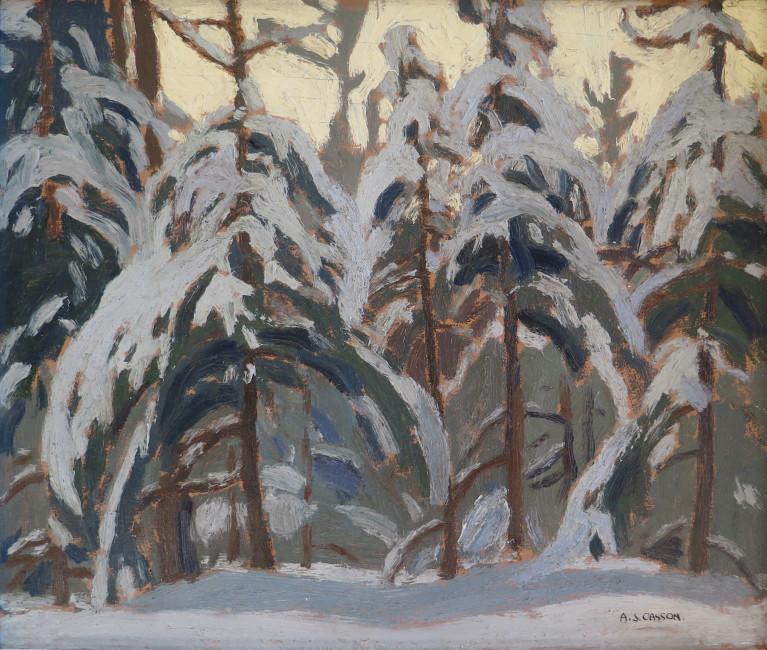 <span class=%22title%22>Snow on Pines, York Mills<span class=%22title_comma%22>, </span></span><span class=%22year%22>1927 (February)</span>