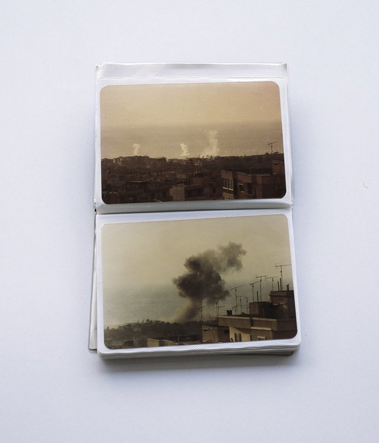 Untitled. Akram Zaatari's mini album displaying photos of summer 1982