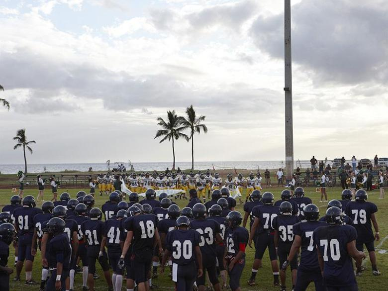 Football Landscape #17 (Waianae vs. Leilehua, Waianae, HI) (from 'High School Football')