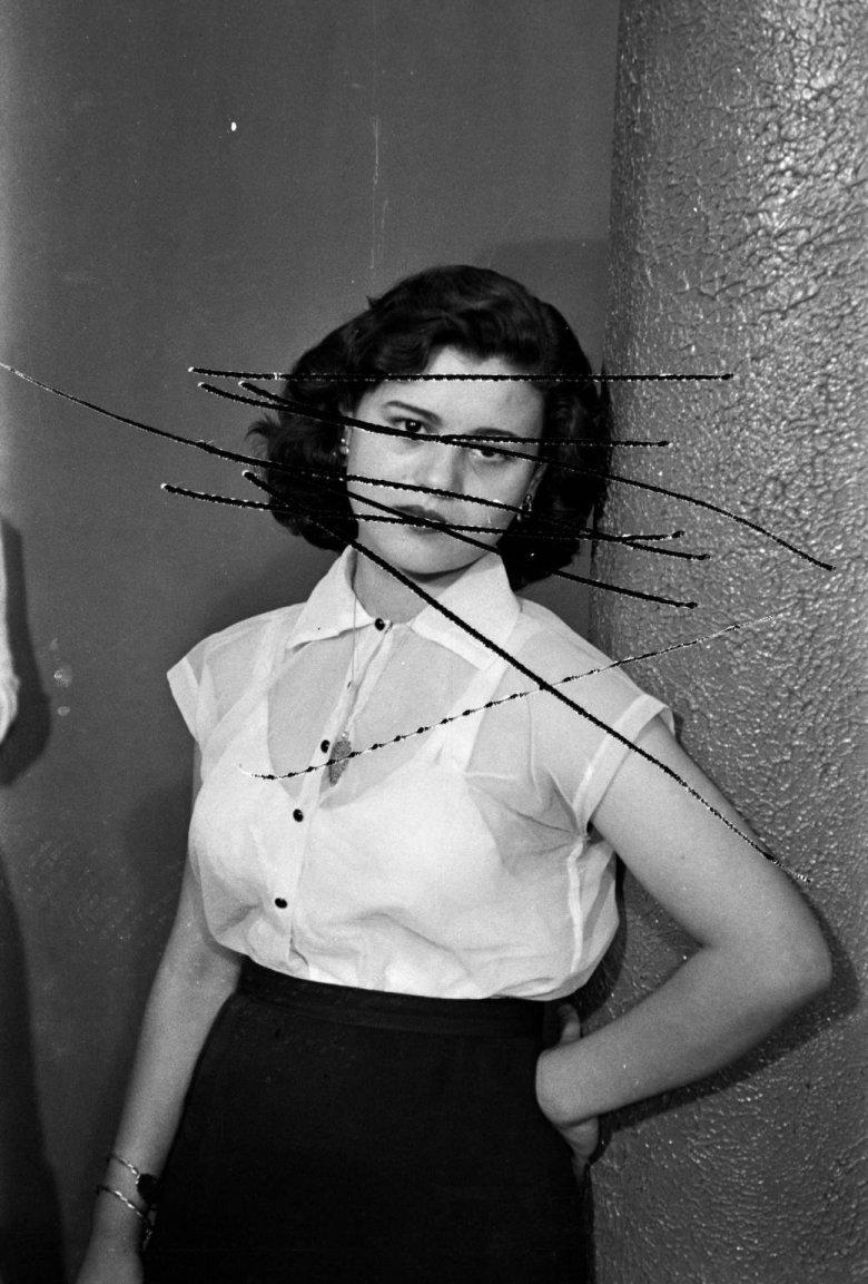 Damaged Negatives: Scratched Portrait of Mrs. Baqari