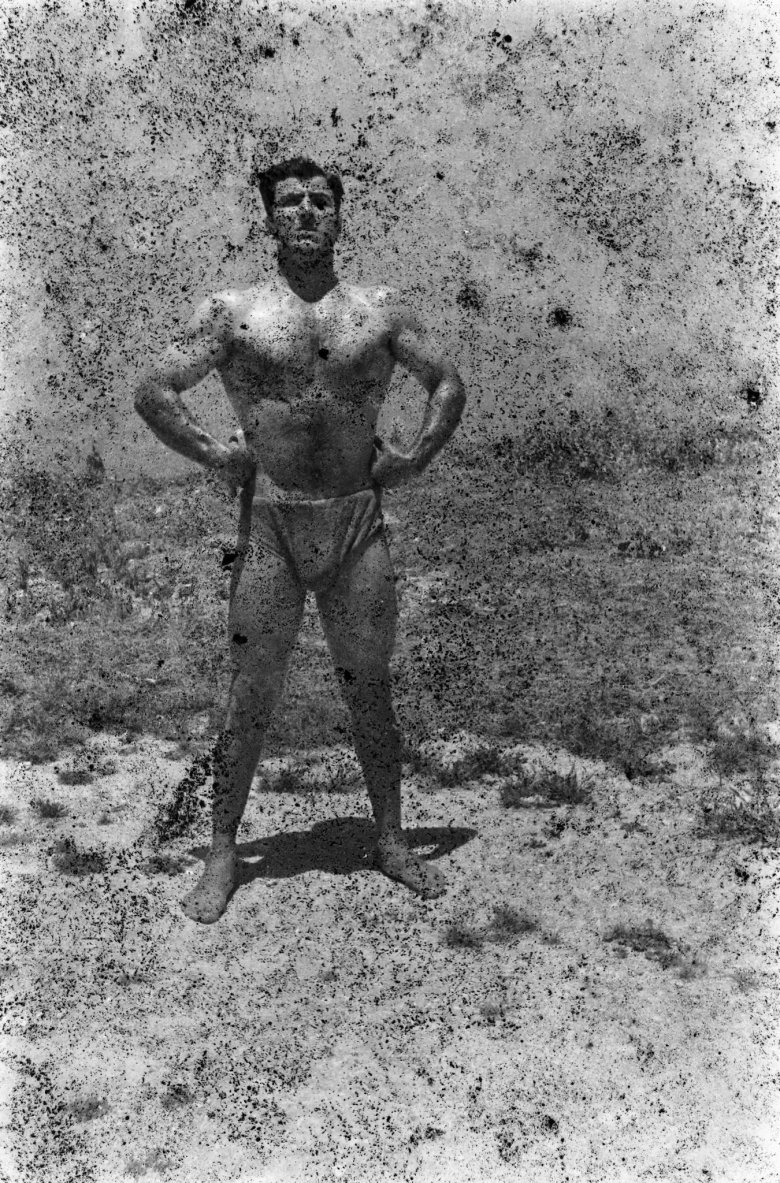 Bodybuilders, Printed From A Damaged Negative 1948