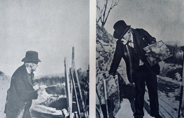 Paul Cezanne painting at Aix, c. 1905
