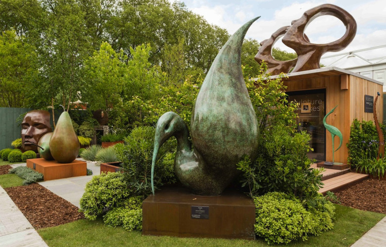 Sculpture by the Lakes's stand at the RHS Chelsea Flower Show