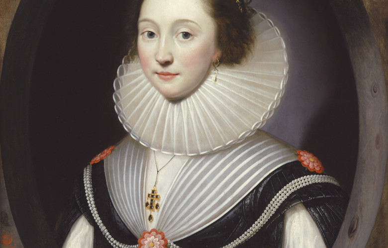 The Weiss Gallery, Cornelius Johnson, An Unknown Lady, Painted 1624, Oil on panel, 77.5 x 61 cm