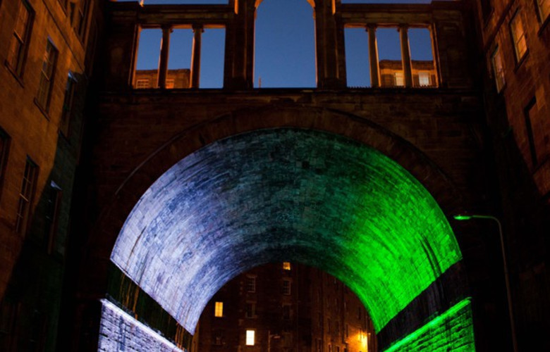 Callum Innes, The Regent Bridge, 2012. Photograph by Stuart Armitt. Courtesy of Edinburgh Art Festival