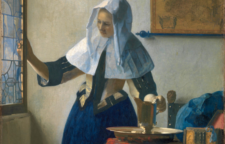 Johannes Vermeer, Young Woman with a Water Pitcher, 1660-62, Public Domain