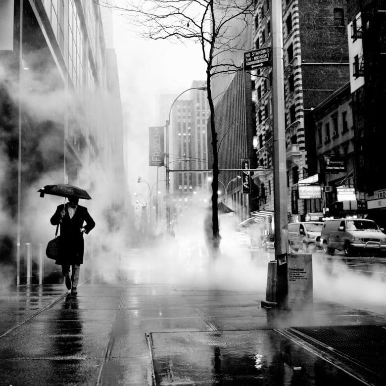 PHIL PENMAN, Walking in Midtown, New York, 2018