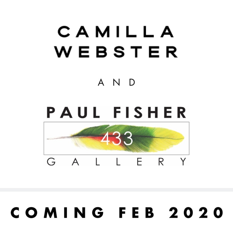 Camilla Webster at Paul Fisher Gallery, Curated by Paul Fisher