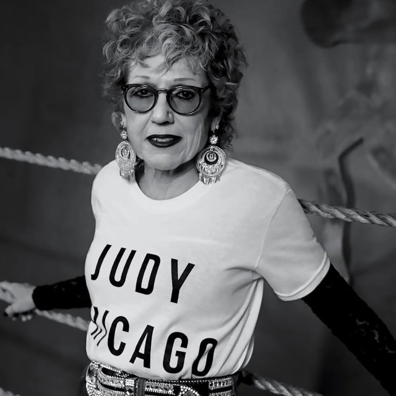 Judy Chicago in N.Y.C. last December. Photograph by Collier Schorr