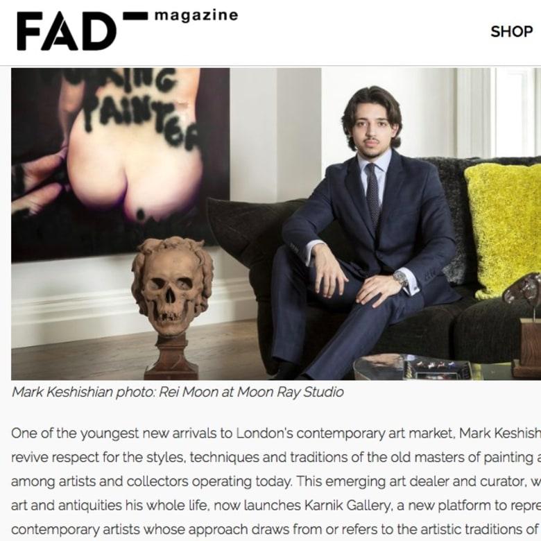 Mark Keshishian in FAD Magazine