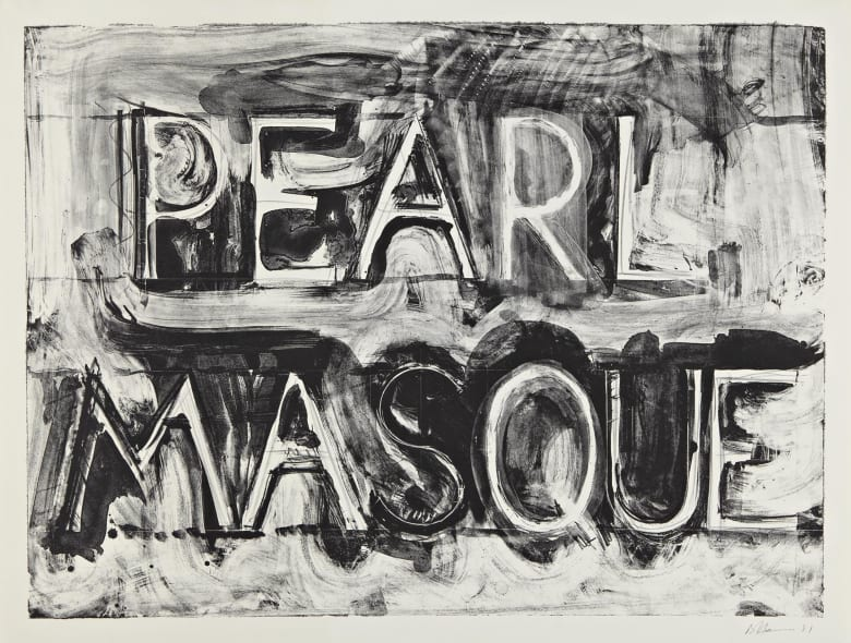 Bruce Nauman  Pearl Masque, 1981  Lithograph  28 1/2 x 38 in  72.4 x 96.5 cm  Edition of 50