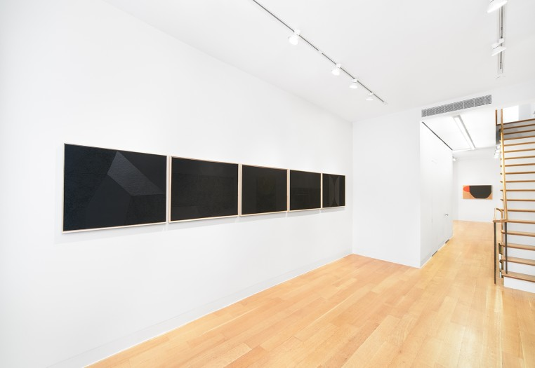 Installation view of Alberto Burri, Grafica, Luxembourg & Dayan, New York. Photo: Tom Powel