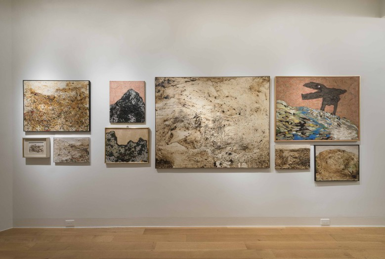Enrico Baj, installation view of the Mountains
