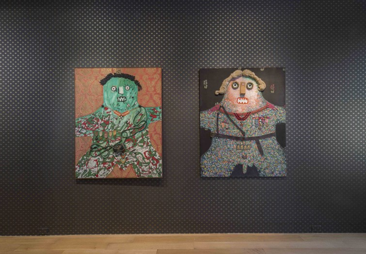Enrico Baj, installation view of the Generals