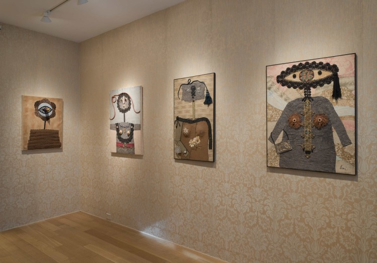 Enrico Baj, installation view of the Ladies