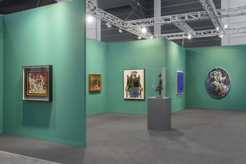 Installation view of Luxembourg & Dayan, Booth 3E13 at Art Basel Hong Kong 2019.  Courtesy Luxembourg & Dayan, New York and London.  Photo: Sebastiano Pellion.