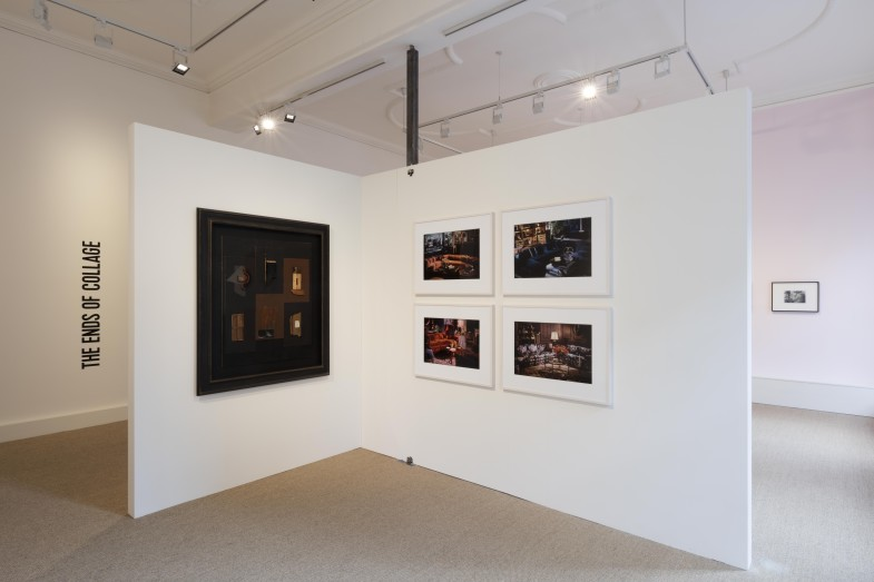 Installation image of the exhibition The Ends of Collage, London.  Photo: Will Amlot Photography.