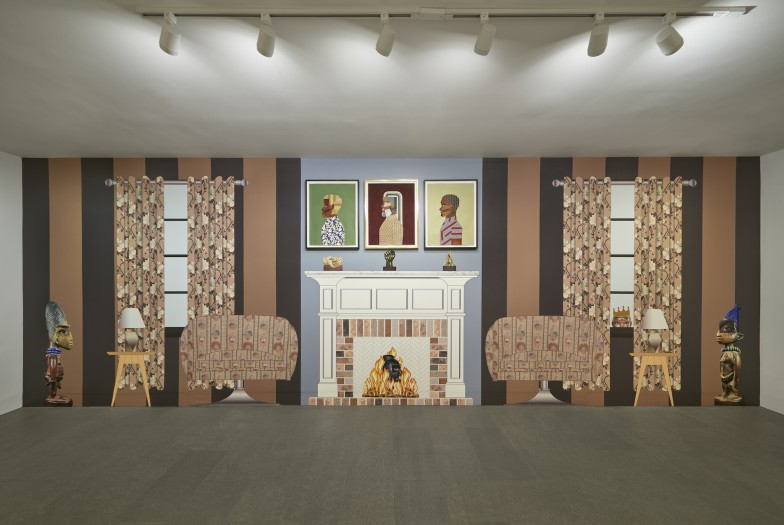 Installation view of Derrick Adams: Interior Life.  Photo: Andy Romer.