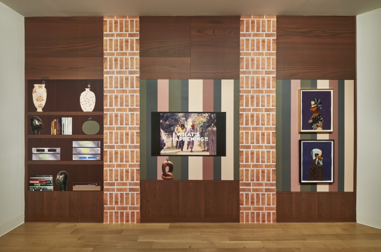 Installation view of Derrick Adams: Interior Life.  Photo: Andy Romer.