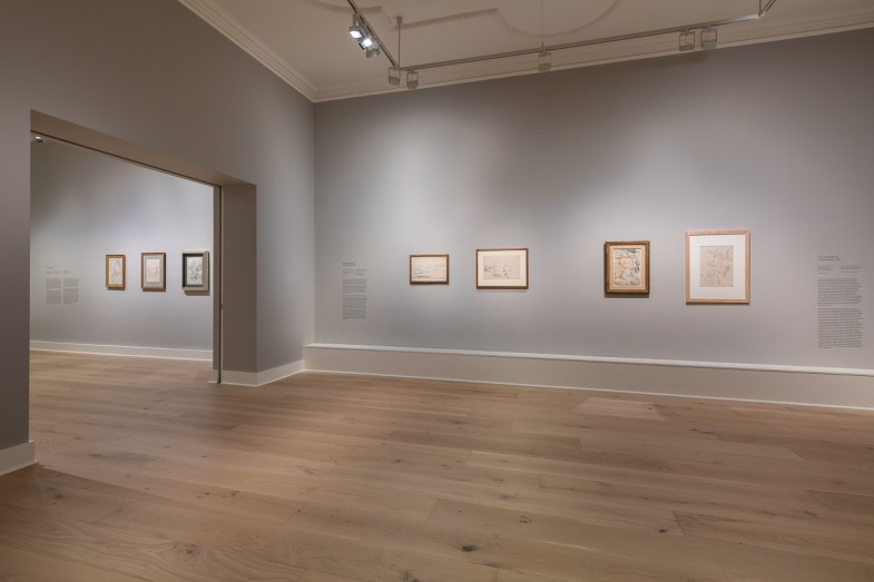 Installation view of Reconstructing Cezanne.  Photo: Damian Griffiths.