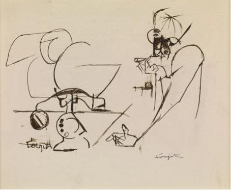 Leonard Tsuguharu Foujita, Cubist Composition