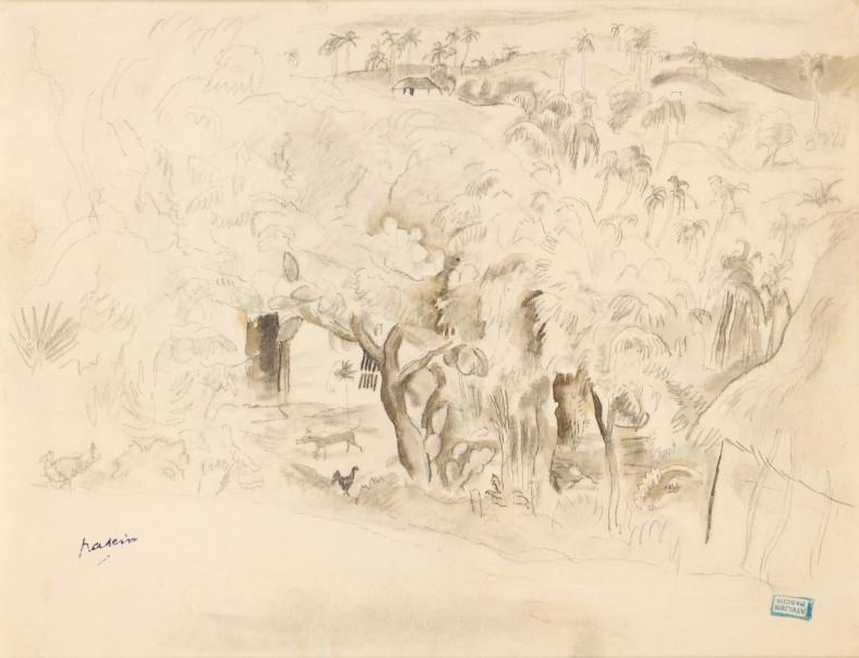 Jules Pascin, Landscape in Cuba, 1917