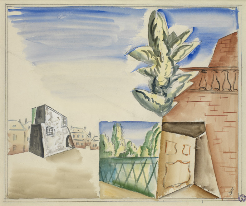 Léopold Survage, Composition with Balustrade, 1919