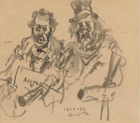 Leonard Tsuguharu Foujita, The Musicians, 1955