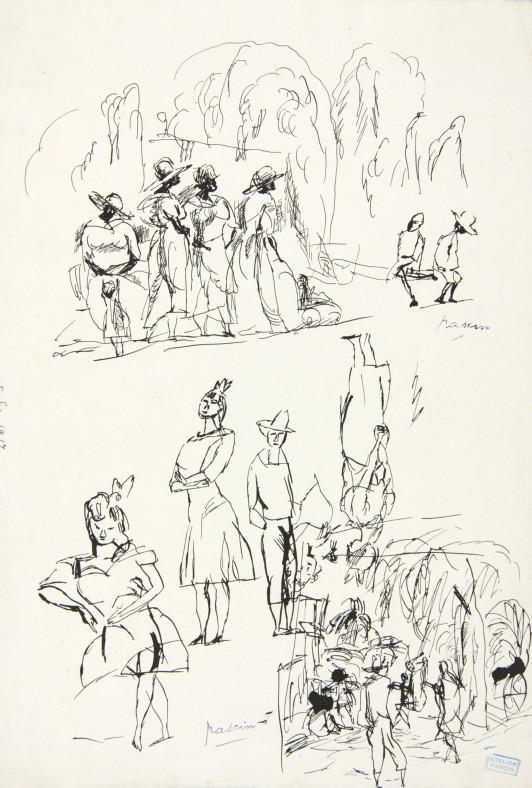 Jules Pascin, Figures, 1917
