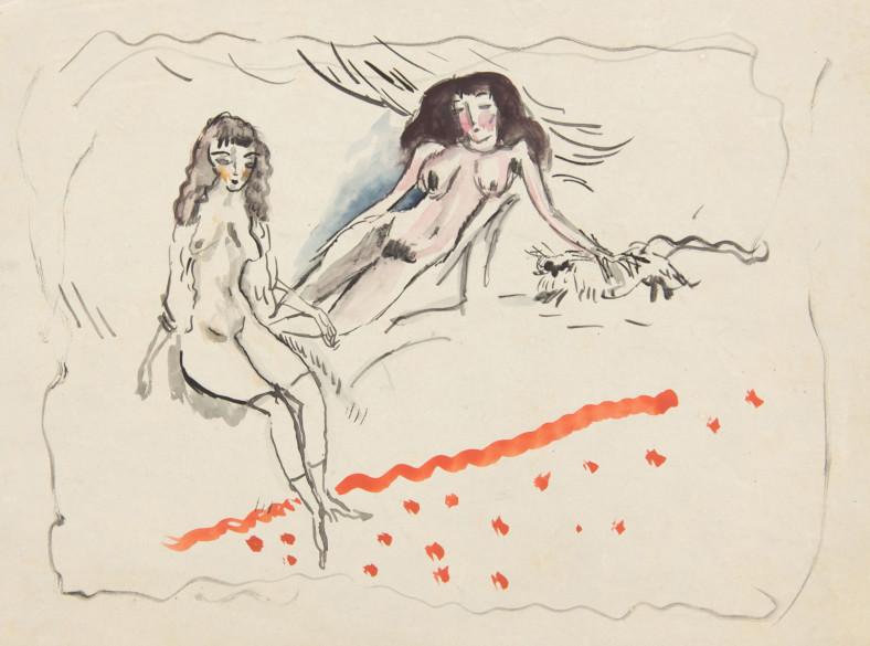 Jules Pascin, Two Young Girls