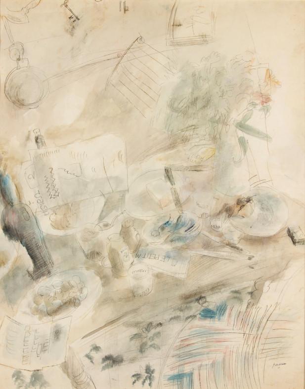 Jules Pascin, Still Life at Sanary